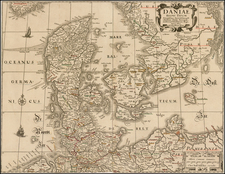 Scandinavia and Denmark Map By Claes Janszoon Visscher