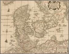 Scandinavia and Denmark Map By Claes Janszoon Visscher