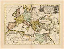 Europe, Europe, Holy Land and Turkey & Asia Minor Map By Covens & Mortier