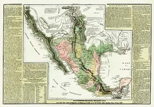 Texas, Southwest, Mexico and California Map By Girolamo Tasso