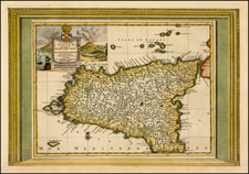 Italy and Balearic Islands Map By Pieter van der Aa