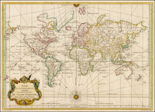 World, World, Australia & Oceania, Australia, Oceania and New Zealand Map By Jacques Nicolas Bellin