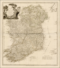 Ireland Map By Franz Anton Schraembl