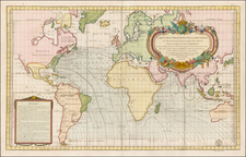 World and World Map By Depot de la Marine
