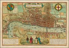 British Isles Map By Georg Braun  &  Frans Hogenberg