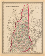 New England and New Hampshire Map By O.W. Gray