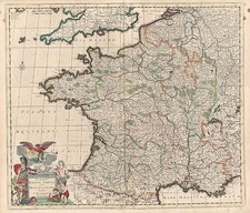 Europe and France Map By Justus Danckerts