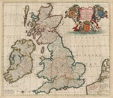 Europe and British Isles Map By Theodorus I Danckerts