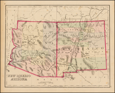 Southwest, Arizona and New Mexico Map By O.W. Gray