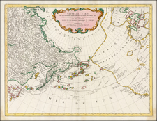 Alaska, Canada and Russia in Asia Map By Paolo Santini