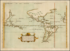 Southeast, North America, Baja California, South America, China, Japan, Southeast Asia, Pacific, Oceania, California and America Map By Antonio de Herrera y Tordesillas