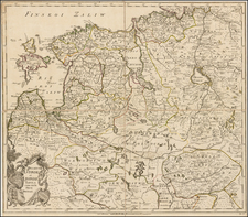 Russia and Baltic Countries Map By Joseph Nicholas de L'Isle