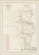South, Midwest and Plains Map By Washington Hood / United States GPO