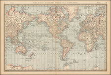 World Map By William Rand  &  Andrew McNally