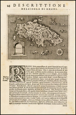 Greece and Balearic Islands Map By Tomasso Porcacchi