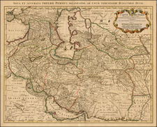 Central Asia & Caucasus, Middle East and Persia Map By Johannes Covens  &  Pieter Mortier