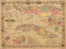 Caribbean Map By Joseph Hutchins Colton