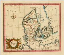 Denmark Map By John Gibson