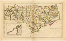 Southeast and North Carolina Map By Mathew Carey