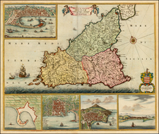 Italy and Balearic Islands Map By Frederick De Wit