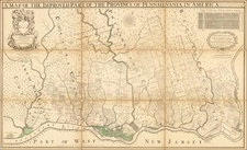Mid-Atlantic Map By Charles Warner / Thomas Holme