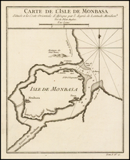 East Africa Map By Jacques Nicolas Bellin
