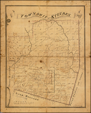 New York State Map By Casimir Goerck
