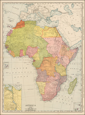Africa Map By William Rand  &  Andrew McNally