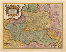 Poland, Russia, Ukraine and Baltic Countries Map By Nicolaes Visscher I