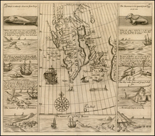 Northern Hemisphere, Polar Maps, Russia and Scandinavia Map By Samuel Purchas