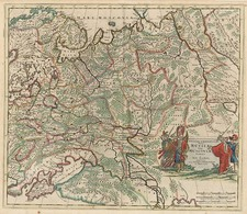 Europe, Russia, Asia, Central Asia & Caucasus and Russia in Asia Map By Justus Danckerts