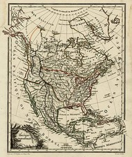 North America Map By Conrad Malte-Brun