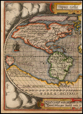Western Hemisphere, South America and America Map By Abraham Ortelius / Philippe Galle