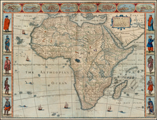 Africa and Africa Map By John Speed