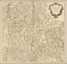 France Map By Gilles Robert de Vaugondy