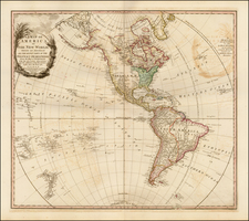 South America and America Map By William Faden