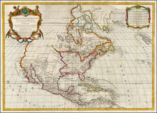 United States and North America Map By Louis Brion de la Tour / Louis Charles Desnos