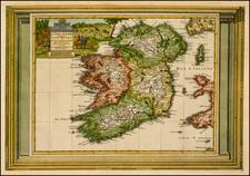 Ireland Map By Pieter van der Aa