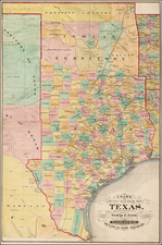 Texas and Plains Map By George F. Cram
