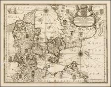 Denmark Map By Erik J. Dahlberg