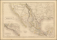 Texas, Southwest, Rocky Mountains, Mexico and California Map By Sidney Hall