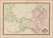 Polar Maps, Alaska and Canada Map By F.A. Garnier