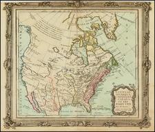 United States, Southwest, Alaska and Canada Map By Louis Brion de la Tour