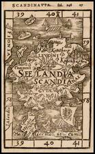 Denmark Map By Johann Honter