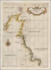 England and Scotland Map By Robert Dudley