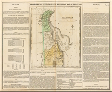 Geographical, Historical and Statistical Map of Delaware By Henry Charles Carey  &  Isaac Lea