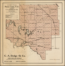 Plains and North Dakota Map By Heber M. Creel