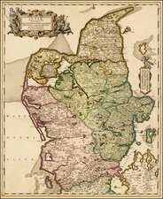 Denmark Map By Frederick De Wit