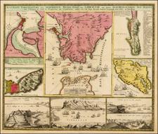 British Isles, Spain, Balearic Islands and North Africa Map By Johann Baptist Homann
