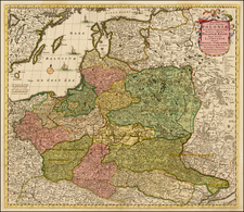 Poland, Russia, Ukraine and Baltic Countries Map By Frederick De Wit